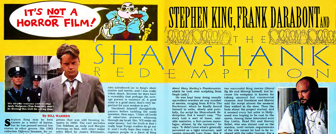"Press Scans: 10/1994 – Fangoria | ""Stephen King, Frank Darabont and The Shawshank Redemption"""